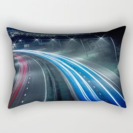 Tron like Light Trail Rectangular Pillow