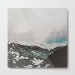 Moody Mountains Metal Print