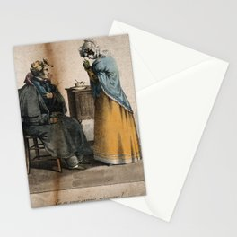 A convalescing soldier being reprimanded by his nurse for not taking his medicine. Coloured lithogra Stationery Cards