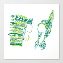 Peter Pan and Tiger Lilly Canvas Print