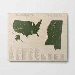 US National Parks - Mississippi Metal Print