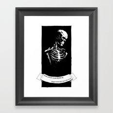 Perhaps You'll Plant A Flower Framed Art Print