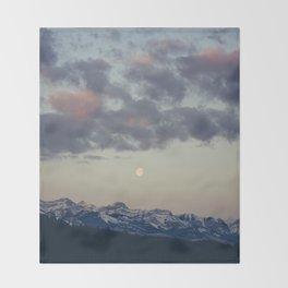 Rocky Mountain Sunrise Throw Blanket