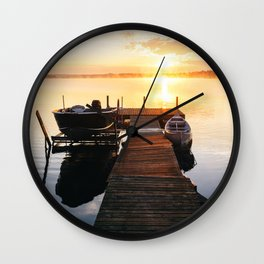 Sunrise at the Cottage Wall Clock