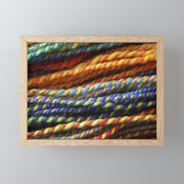 Rainbow Handspun Yarn Close up Framed Mini Art Print