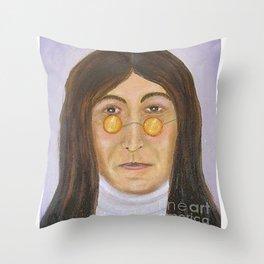 Singer JohnLennon Throw Pillow