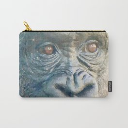 Gorilla watercolor painting #1 Carry-All Pouch