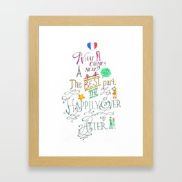 The Happily Ever After Framed Art Print
