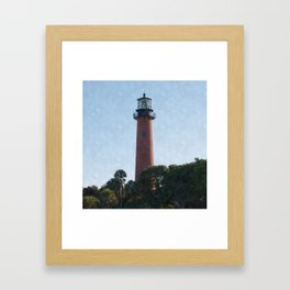 Jupiter Lighthouse Framed Art Print