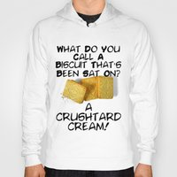 pun Hoodies featuring Crushtard Cream Pun by georgestow