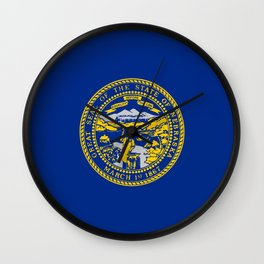 flag Nebraska,america,usa,cornhusker,nebraskan, great plains,midwest,Omaha,Lincoln,Kearney Wall Clock