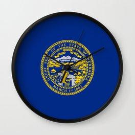 flag Nebraska,america,usa,cornhusker,nebraskan, great plains,midwest,Omaha,Lincoln,Kearney Wall Clock