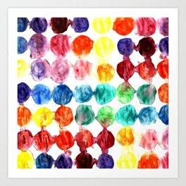 Circles watercolor abstract print Art Print