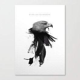 Straightforward Eagle Canvas Print