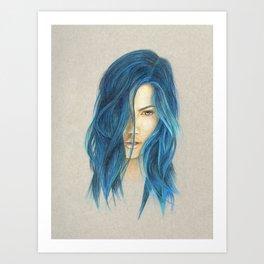 """Blue"" Art Print"