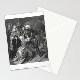 Arrest of Alice Lisle for sheltering fugitives from the Battle of Sedgemoor, 1685', 1886 Stationery Cards
