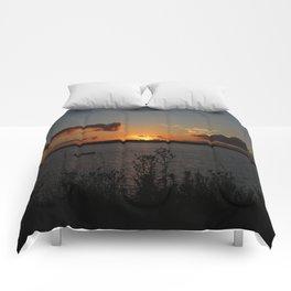 Sunset over Georgetown Comforters