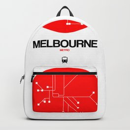 Melbourne Red Subway Map Backpack