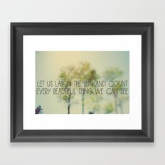 Lay in the Sun Framed Art Print
