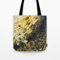 bees Tote Bags featuring Bees! by Creative Lore
