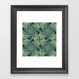 Green Herb Garden, Dill Flowers Framed Art Print