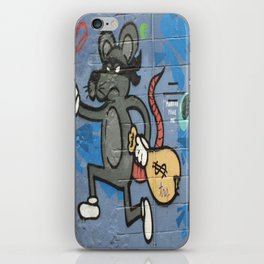 Photograph Mask Rat Burglar with money bag street art graffiti iPhone Skin