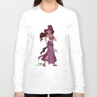 hercules Long Sleeve T-shirts featuring Meg / Megara - Hercules by Teo Hoble