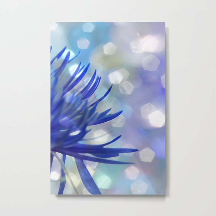 Happiness in Blue Metal Print