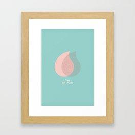 Happy Birthday - Light#2 Framed Art Print