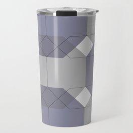 Blue Octagons Travel Mug