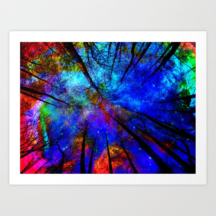 Colorful forest Art Print