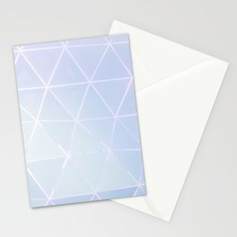 Blue Geometric Art Stationery Cards