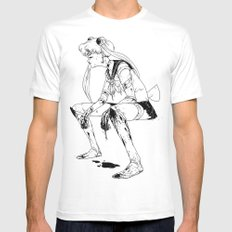 Brawler Sailor Moon - Sketch MEDIUM White Mens Fitted Tee