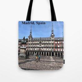 Comic Art of plaza in Madrid, Spain Tote Bag