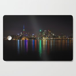 Toronto Skyline at Night Cutting Board
