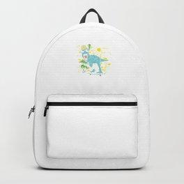 Cool Dinosaur Skateboarding Colorful Skateboard T-Rex Lovers Gifts Backpack