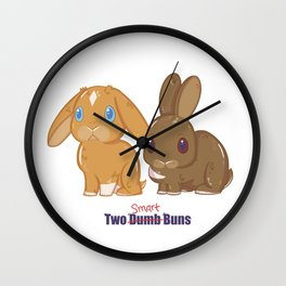 Two Dumb (Smart) Buns Wall Clock