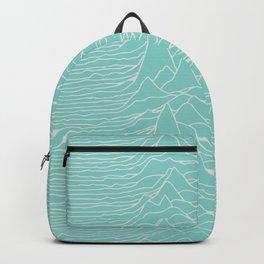 Steez Originals Unknown Pleasures Pulsar Stack in Eggshell Blue Backpack