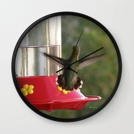 This Feeder is MINE! Wall Clock