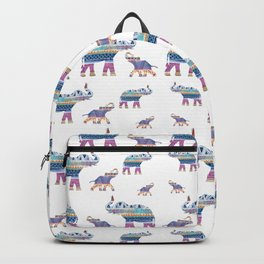 Elephant Tribal Pattern Backpack