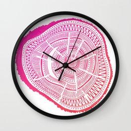 Ponderosa Pine – Pink Ombré Palette Wall Clock