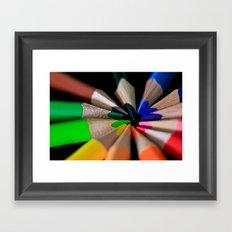 Color Box Framed Art Print