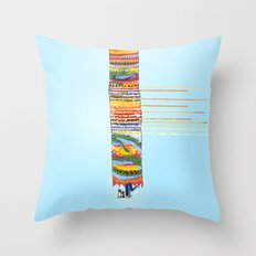Love in the Year of the Dragon, penguins and lovers Throw Pillow