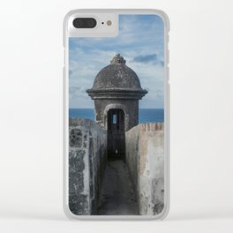 Fortification walls in Puerto Rico Clear iPhone Case