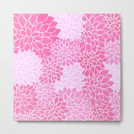 Pink Dahlias / Pink Floral / Pink Flowers Metal Print