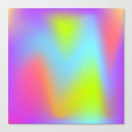 Rainbow gradient foil effect Canvas Print