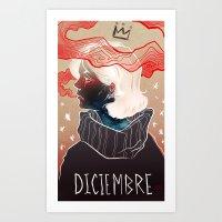 Diciembre Art Print