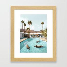 Pig Poolside Party Framed Art Print
