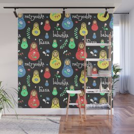 Traditional russian dolls Wall Mural