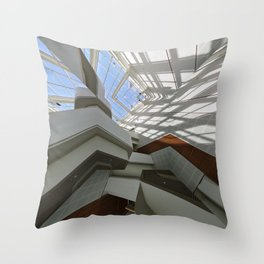 Architectural lines (slightly mirrored) Throw Pillow